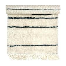 white runner rug white wool runner rug with grey stripes tassels as seen in living etc white runner rug