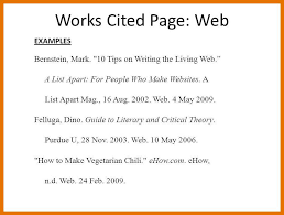 How To Make Work Cited Page 10 Example Of A Work Cited Page 1mundoreal
