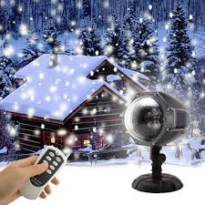 Lights That Look Like Snow Falling Details About Gaxmi Led Snowfall Light Remote Control Christmas Snow Falling Night Projector