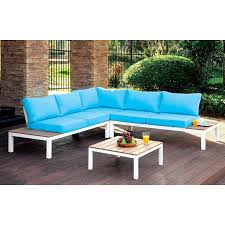 pyrrus contemporary outdoor seating set by furniture of america