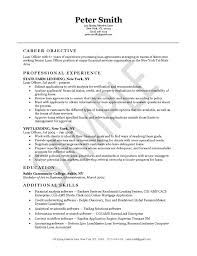 Administration Officer Sample Resume Unique Loan Officer Resume Example
