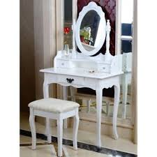 image is loading white dressing table oval mirror stool set
