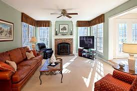 modern living room with red brick fireplace centerfieldbar com