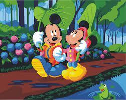 HQ phim hoạt hình Mickey mouse Bức Tranh Bằng Số Sơn Trên Canvas Acrylic  Màu Painitng By Numbers vẽ hình ảnh Trang Trí Nội Thất cartoon painting  mickey mouse paintingmickey painting - AliExpress