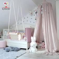 Canopy Bed Tent Kids Crib Netting Palace Children Curtain Kid Hung ...