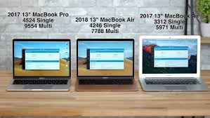 Compared 2018 Macbook Air Versus 13 Inch Macbook Pro And 2017
