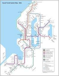 Seattle Transit Map Light Rail Transit Maps Submission Unofficial Future Map Sound