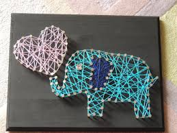 Diy String Art Elephant Family String Art Diy Crafts Pinterest String Art