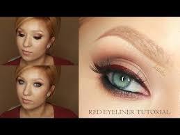 black widow red eyeliner tutorial with en subs