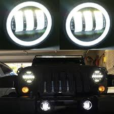 Jeep Lights For Sale Us 49 99 Best Price New 4 Inch Round Led Fog Lights 30w Projector Lens 12v Driving Auxiliary Lamps For Jeep Wrangler Jk Off Road In Car Light
