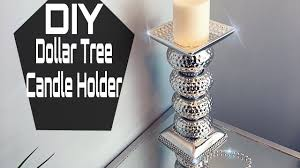 Diy Candle Holders Diy Dollar Tree Mirrored Candle Holder Youtube