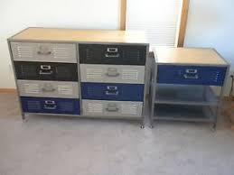 pottery barn locker furniture. Pottery Barn Teen Locker Furniture Set 8 Drawer Dresser Bedside Table