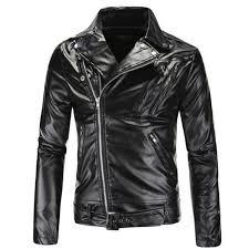 2019 whole punk motorbike black fashion leather jackets men motorcycle slim fit boy leather biker jacket male pu coat from watchlove