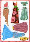 Раскраска модница кукла и гардероб из бумаги