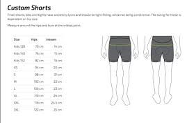 Clothing Sizing Chart Fluid Movements