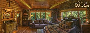 master bedroom half panoramic log home