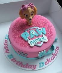 girl skye paw patrol cake