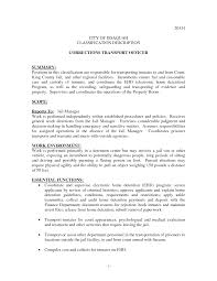 Correctional Officer Job Description Resume Correctional Officer Resume No Experience httpwwwjobresume 2