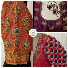 Full Embroidery Blouse Designs When Weddings And Festivals Meet Stunning Designer Blouse