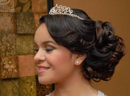 Hairstyles For A Quinceanera Quinceanera Hairstyle Side View Quinceanera Sweet 16 Pinterest