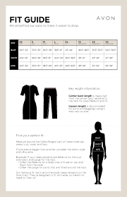 Avon Size Charts For Women And Men Fashion As Well As