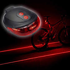 Cycling Laser Tail Light Water Resistant 2 Laser 5 Leds 7 Modes Mountain Bicycle Bike Safety Warning Back Rear Led Red Light