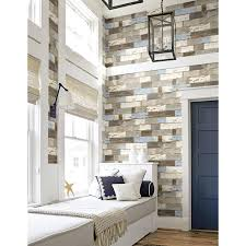 NextWall 30.75-sq ft Blue and Brown ...