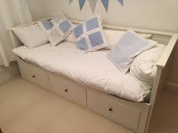Double Day Beds Brilliant White IKEA Hemnes Extendable Bed With 3 ...