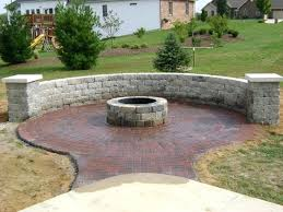 exciting stone patio with fire pit stone patio with fire pit about remodel amazing home design