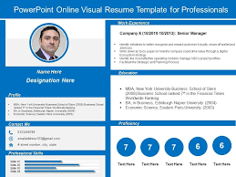 Resume In Powerpoint Powerpoint Online Visual Resume Template For Professionals
