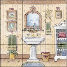 Bathroom Tile Murals Decorative tile for bathrooms Tile art for