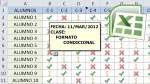 formato de asistencias tutorial de excel 4 ejemplos de formato condicional lista de