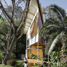 tree house designs. Extremely Pointed Garden Room Features A Treehouse-like Design And Climbing Wall Tree House Designs