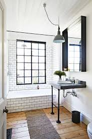 modern bathroom subway tile. Brilliant Tile Industrial And Midcentury Modern Bathroom With Subway Tiles On The Walls  Bathtub Throughout Modern Bathroom Subway Tile