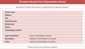 donation receipt forms donation receipt template 3 best donation receipt formats