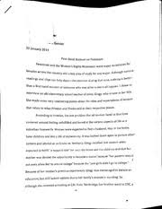 feminist movement essay 2 pages first hand account on feminism essay