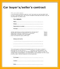 Private Car Sale Contract Template Party Vehicle Sales Auto