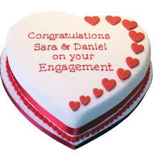 Heart Engagement Cake Flecks Cakes