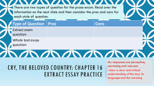 cry the beloved country sow igcse prose literature by 9 ctbc 16 exam extract practice pptx