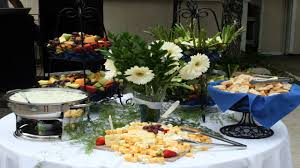 decorating round tables buffet table idea informal table