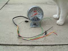 autogauge tacho shift light wireing info rescued attachment auto gauge jpg