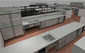 restaurant kitchen layout 3d. Full Size Of Kitchen:alluring Restaurant Design Layout 3d Homes Photo Kitchen I