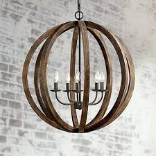 from the lighting collection this orb chandelier features antique style forged iron details and a rustic