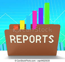 Chart Progress Reports File Meaning Progress Chart 3d Rendering