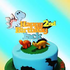 Dinosaur Cake Topper Dinosaur Birthday Cake Topper First Etsy