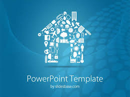 Powerpoint Real Estate Templates House Shape Powerpoint Template