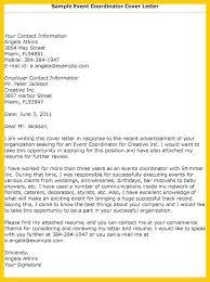 Logistics Coordinator Cover Letter Event Coordinator Resume Cover Letter Cover Letter Marketing