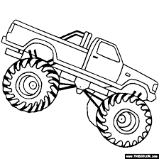 Monster Trucks Online Coloring Pages Page 1