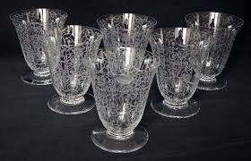 6 baccarat crystal wine glasses michelangelo pattern signed france early 20th century