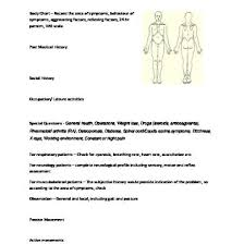 Orthopaedic Physiotherapy Assessment Chart For